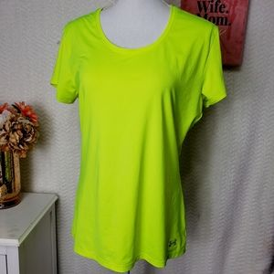 Under Armour heat wear Athletic top green size L
